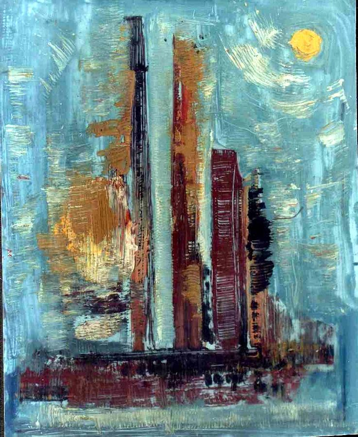 City Abstraction Painting  - City Abstraction Fine Art Print