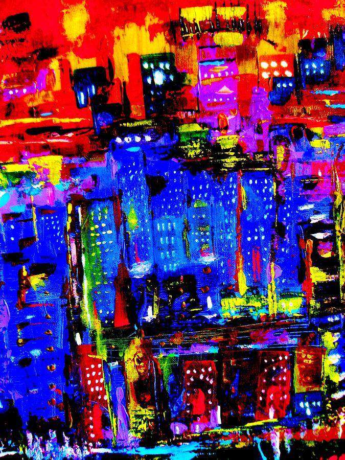 City Feelings Painting  - City Feelings Fine Art Print
