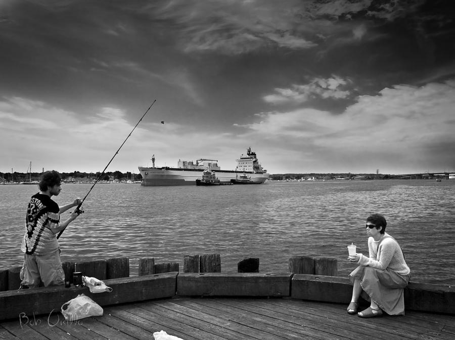 City Fishing Photograph  - City Fishing Fine Art Print