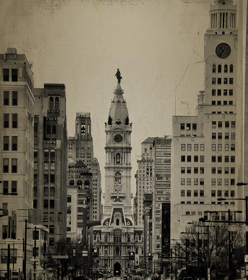 City Hall From North Broad Street Philadelphia Photograph