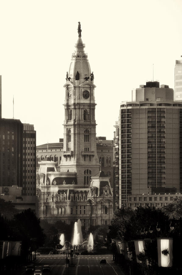 Philadelphia Photograph - City Hall From The Parkway - Philadelphia by Bill Cannon