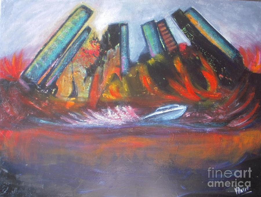 City In A Fire Painting  - City In A Fire Fine Art Print