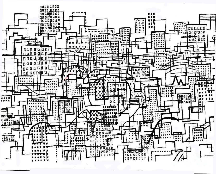 City Lines 3 Drawing