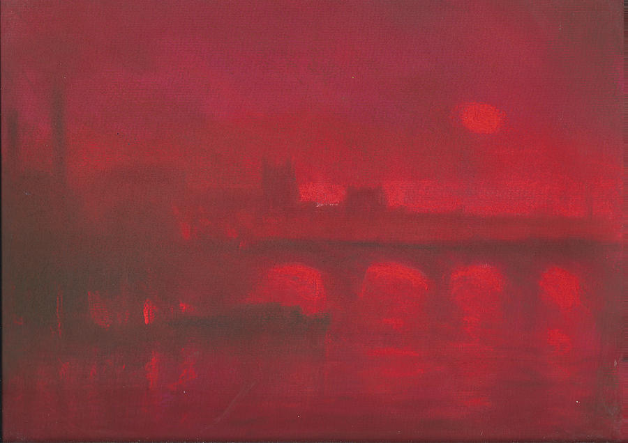 Red Pastel - City Mist 1 by Paul Mitchell