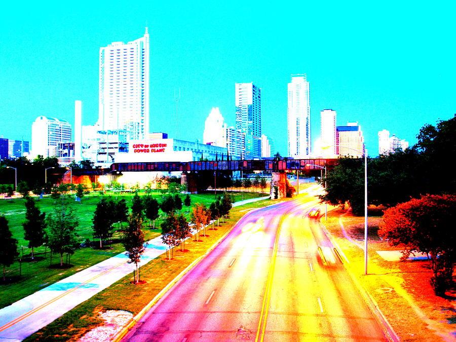 City Of Austin From The Walk Bridge Photograph  - City Of Austin From The Walk Bridge Fine Art Print