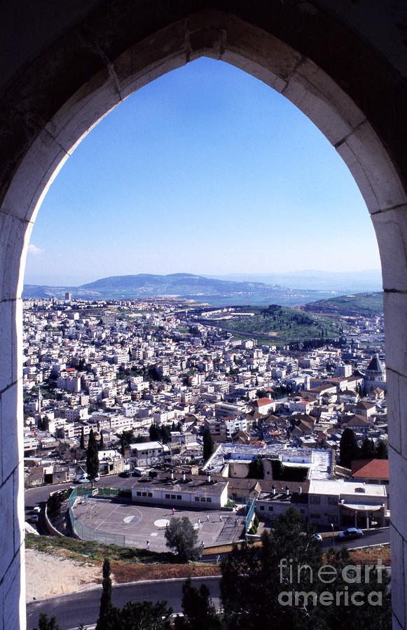 City Of Nazareth From The Saint Gabriel Bell Tower Photograph  - City Of Nazareth From The Saint Gabriel Bell Tower Fine Art Print