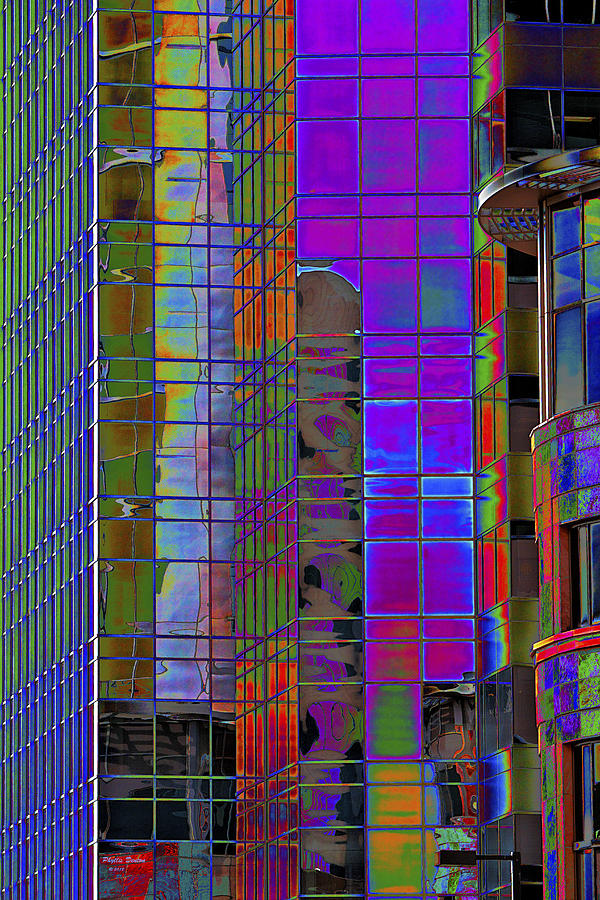 Windows Photograph - City Windows Abstract Pop Art Colors by Phyllis Denton