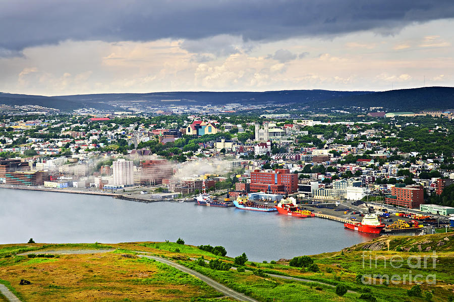 Cityscape Of Saint Johns From Signal Hill Photograph