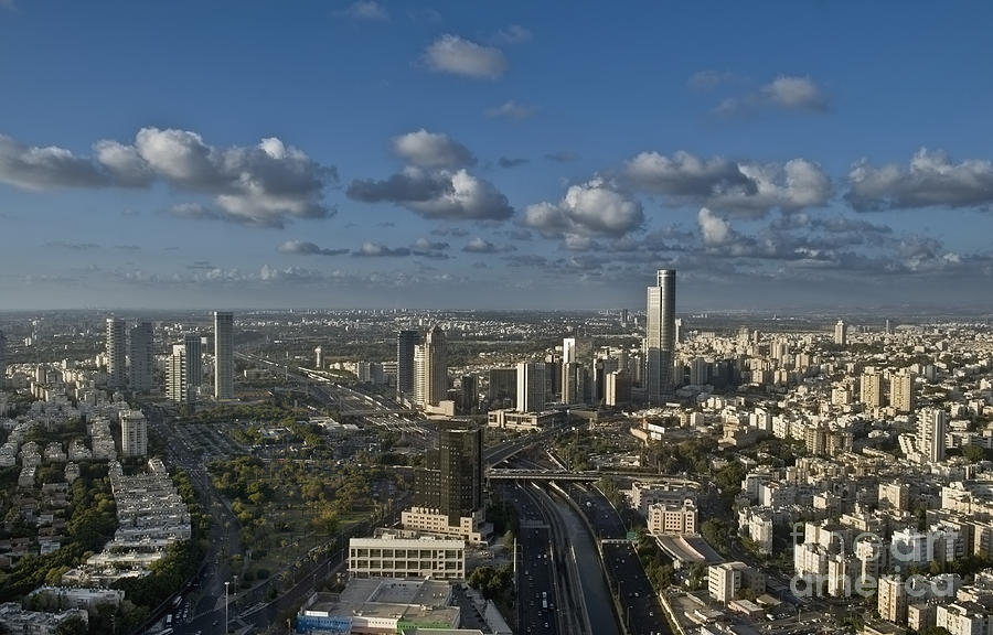 Cityscape View Of Tel Aviv Photograph  - Cityscape View Of Tel Aviv Fine Art Print