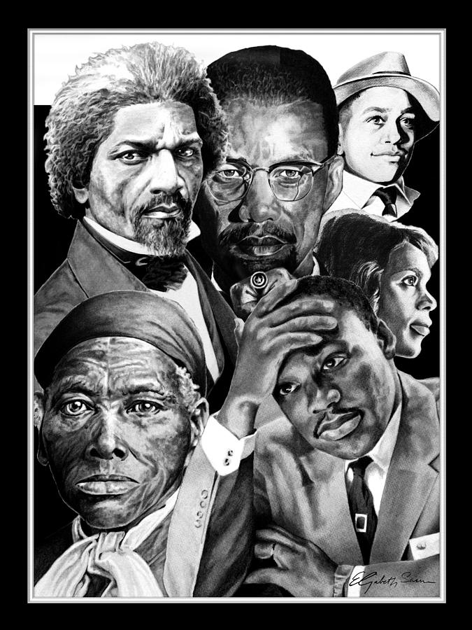 Civil Rights Collage Drawing  - Civil Rights Collage Fine Art Print