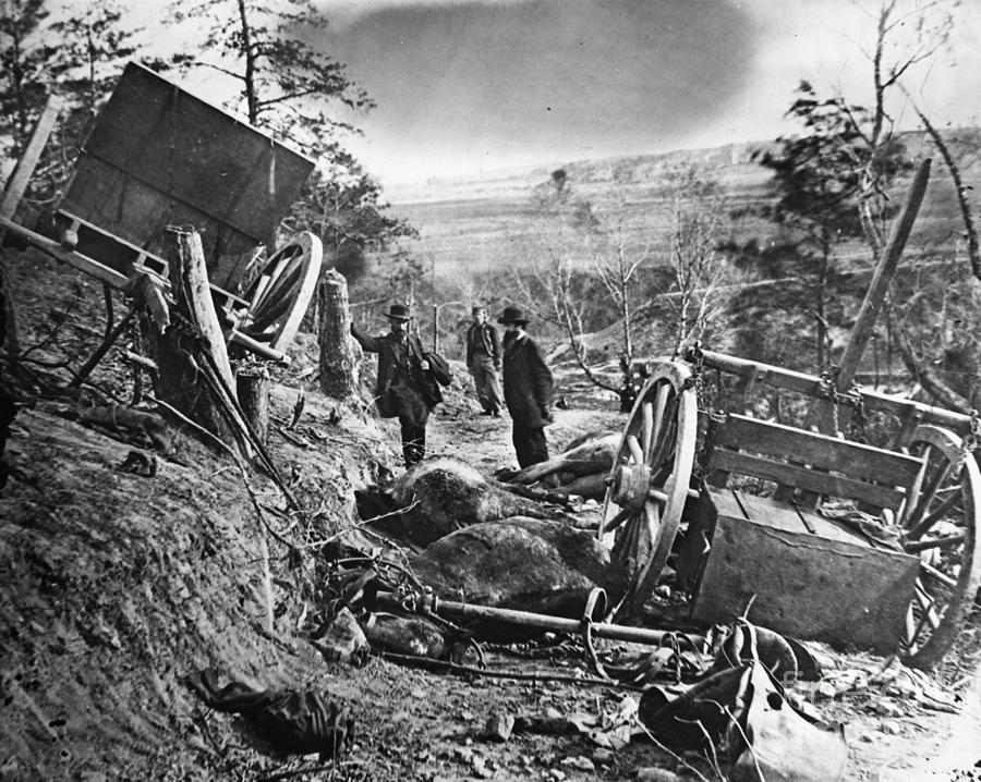 Civil War: Battlefield Photograph by Granger