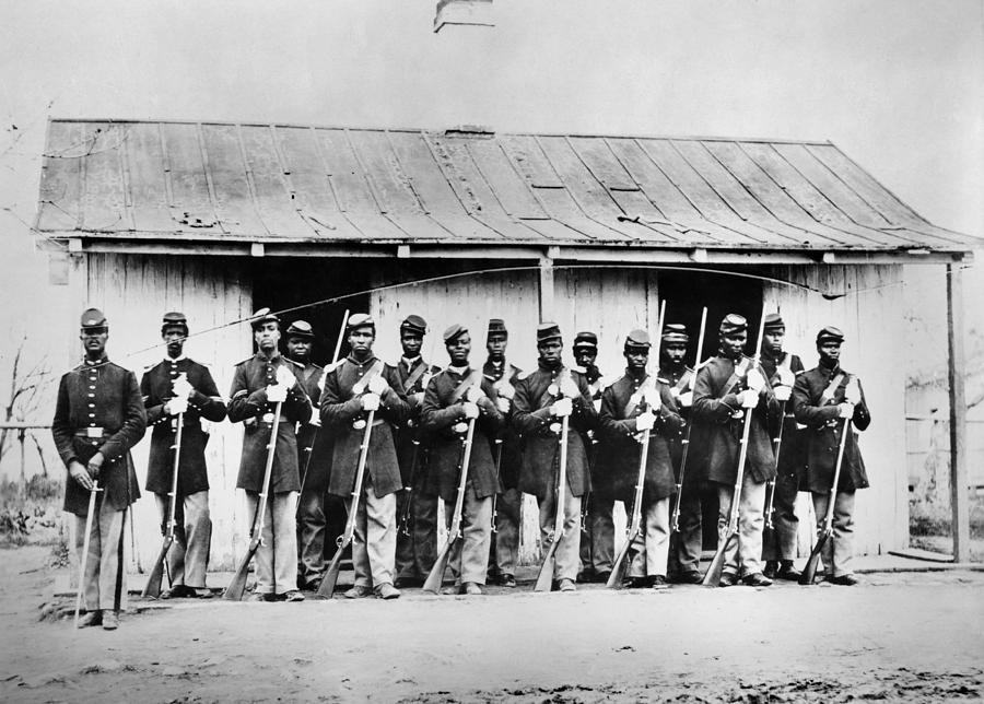 Civil War: Black Troops Photograph  - Civil War: Black Troops Fine Art Print