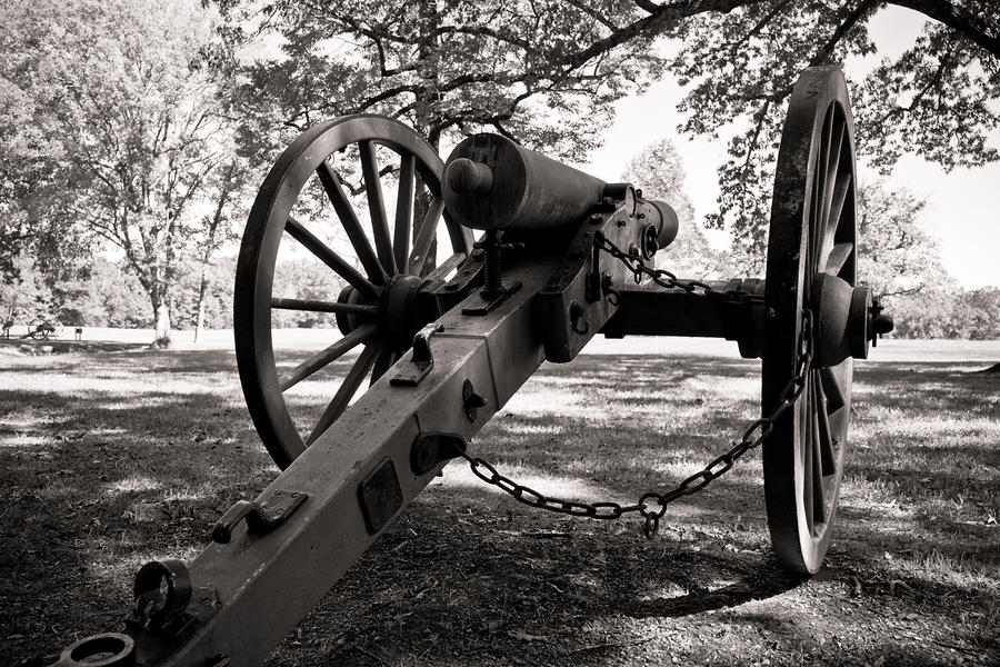 Civil War Cannon Photograph