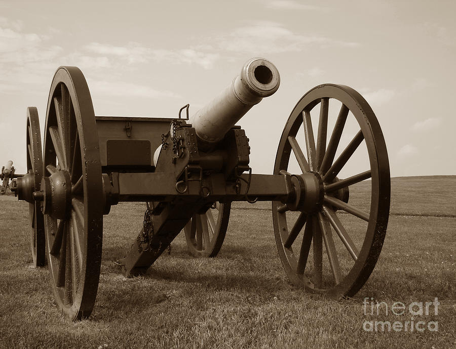 Civil War Cannon Photograph  - Civil War Cannon Fine Art Print