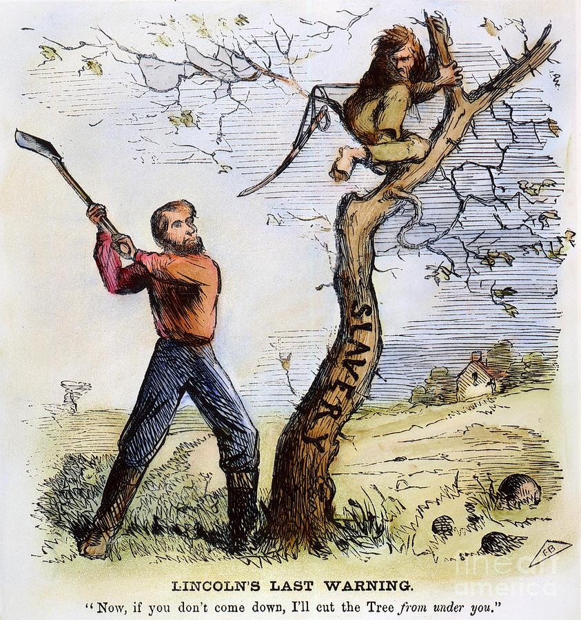 1862 Photograph - Civil War Cartoon, 1862 by Granger