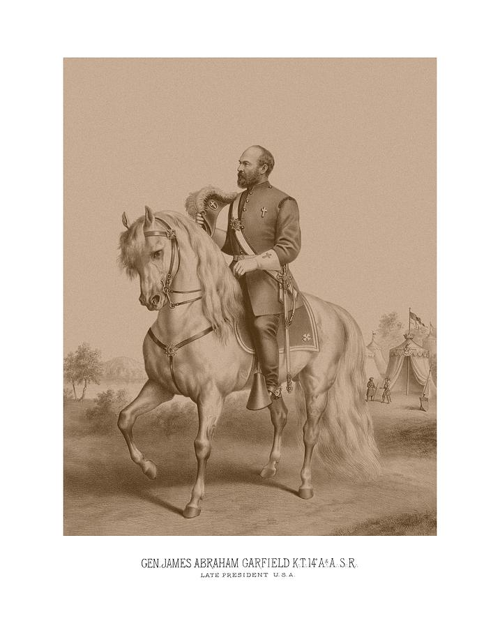 Civil War General James Garfield Drawing  - Civil War General James Garfield Fine Art Print