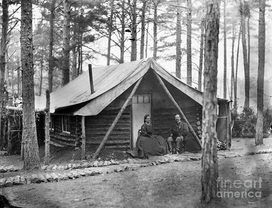 Civil War: Log Cabin, 1864 Photograph  - Civil War: Log Cabin, 1864 Fine Art Print