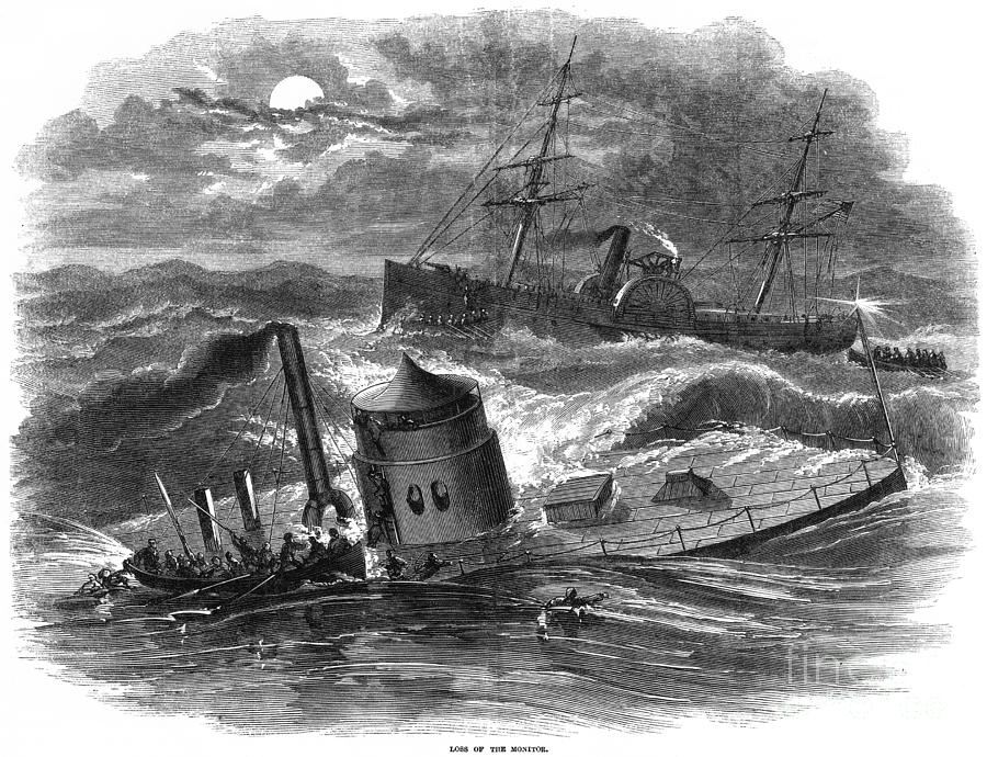 Civil War: Monitor Sinking Photograph