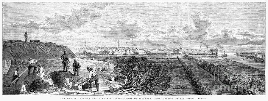 Civil War: Savannah, 1863 Photograph