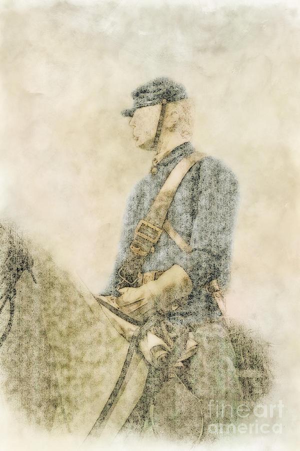 Civil War Union Cavalry Trooper Digital Art