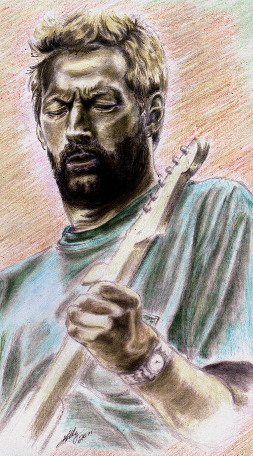 Clapton Drawing  - Clapton Fine Art Print