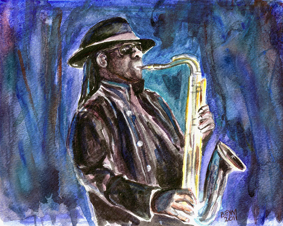 Clarence Clemons Painting