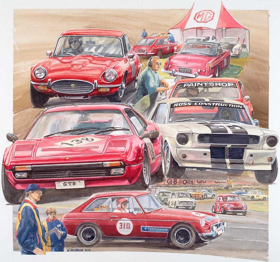 Classic Car Racing 06 Painting