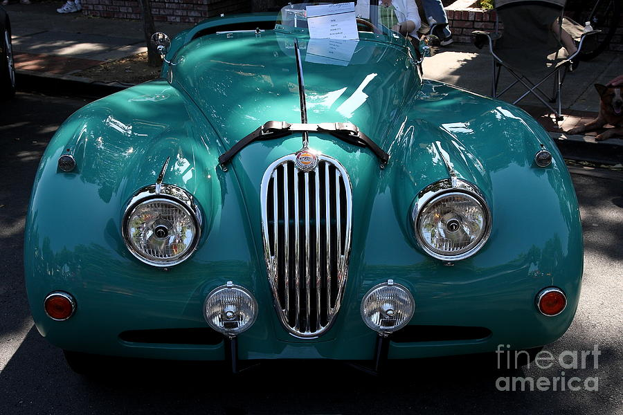 Classic Green Jaguar . 40d9411 Photograph