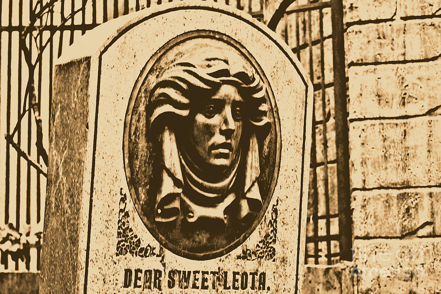 Classic Leota Moving Eyes Headstone Haunted Mansion Magic Kingdom Walt Disney World Prints Rustic Digital Art  - Classic Leota Moving Eyes Headstone Haunted Mansion Magic Kingdom Walt Disney World Prints Rustic Fine Art Print
