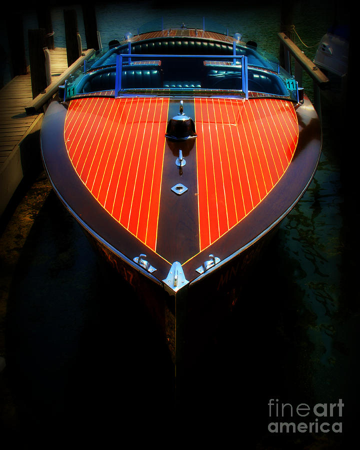 Classic Wooden Boat Photograph