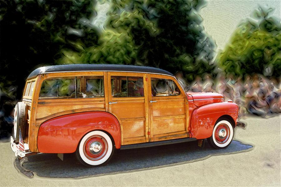 Classic Woody Station Wagon Photograph