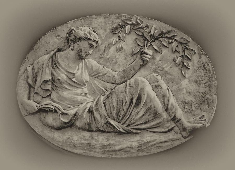Classical Greek Woman Fresco Photograph