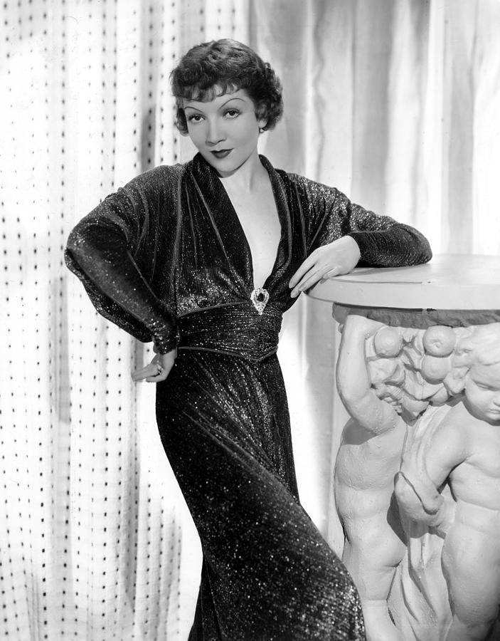 1930s Fashion Photograph - Claudette Colbert, 1934 by Everett