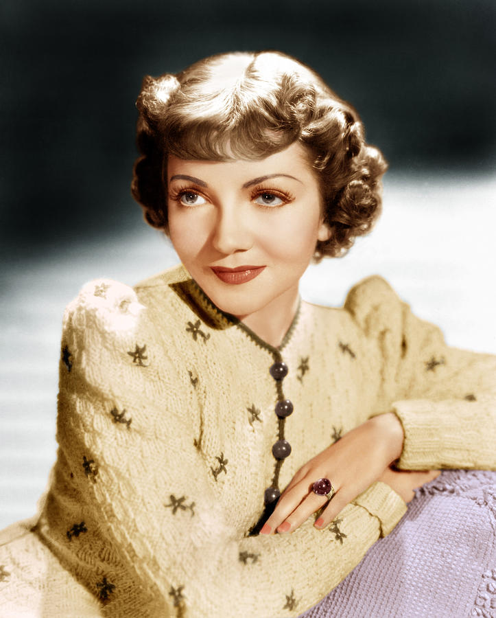 1930s Hairstyles Photograph - Claudette Colbert, Ca. 1939 by Everett