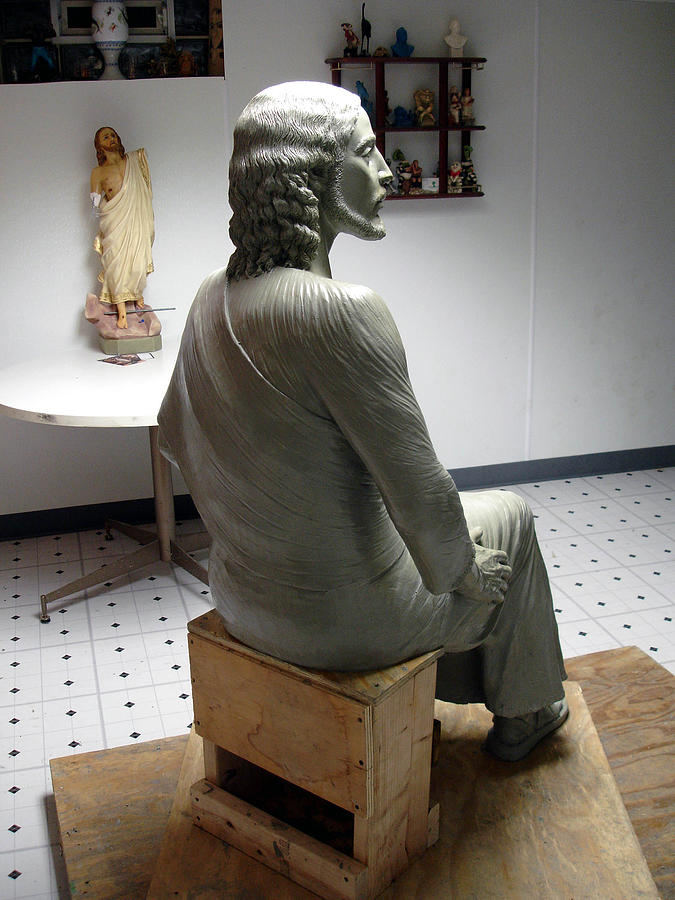 Oil Clay  Sculpture - Clay Jesus by Patrick RANKIN