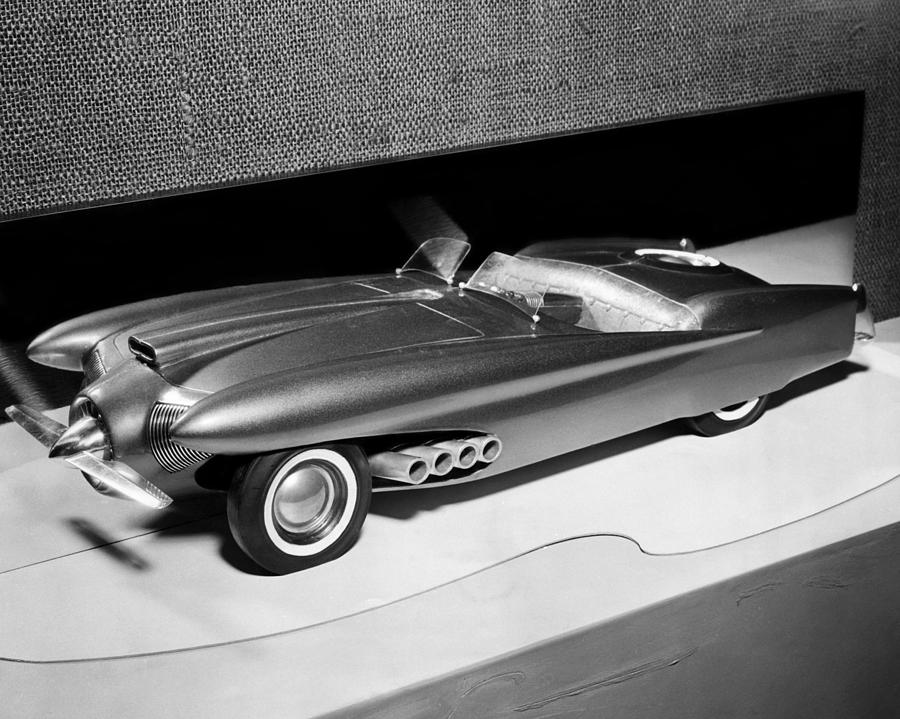 Clay Model Of A Ford Dream Car, 1952 Photograph  - Clay Model Of A Ford Dream Car, 1952 Fine Art Print