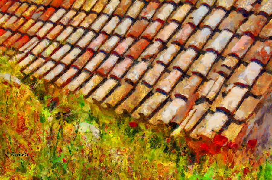 Clay Tiles Painting  - Clay Tiles Fine Art Print