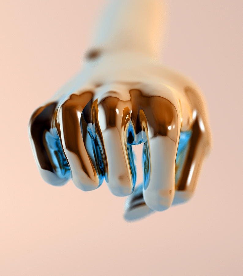 Clenched Fist, Computer Artwork Photograph