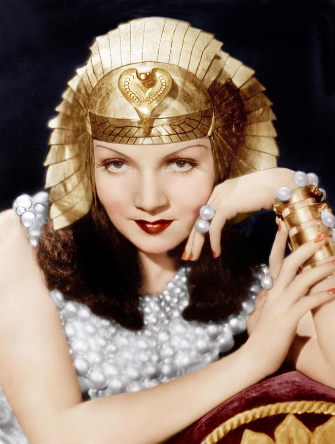Cleopatra, Claudette Colbert, 1934 Photograph