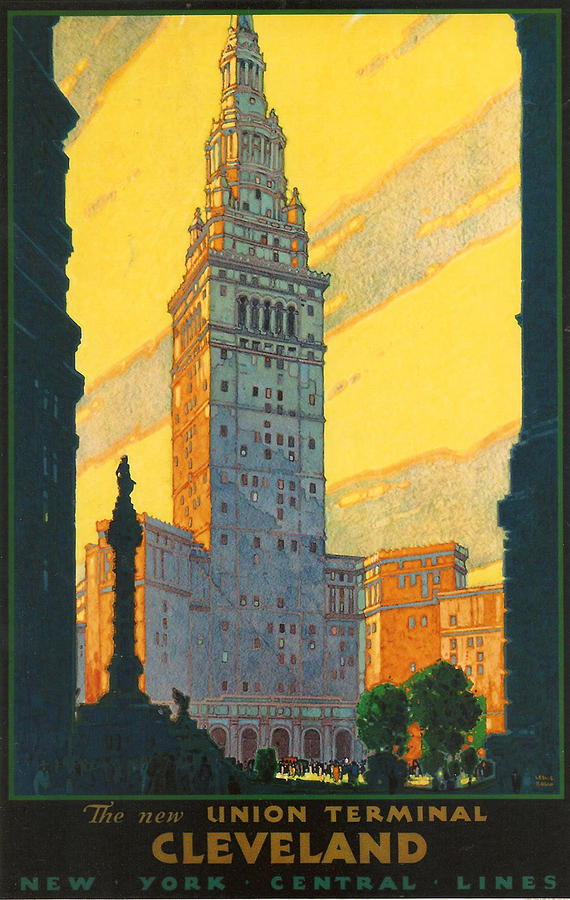 Cleveland - Vintage Travel Digital Art  - Cleveland - Vintage Travel Fine Art Print