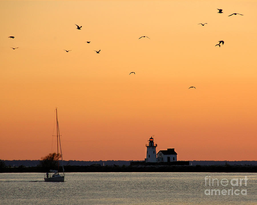 Cleveland Harbor Sunset Photograph