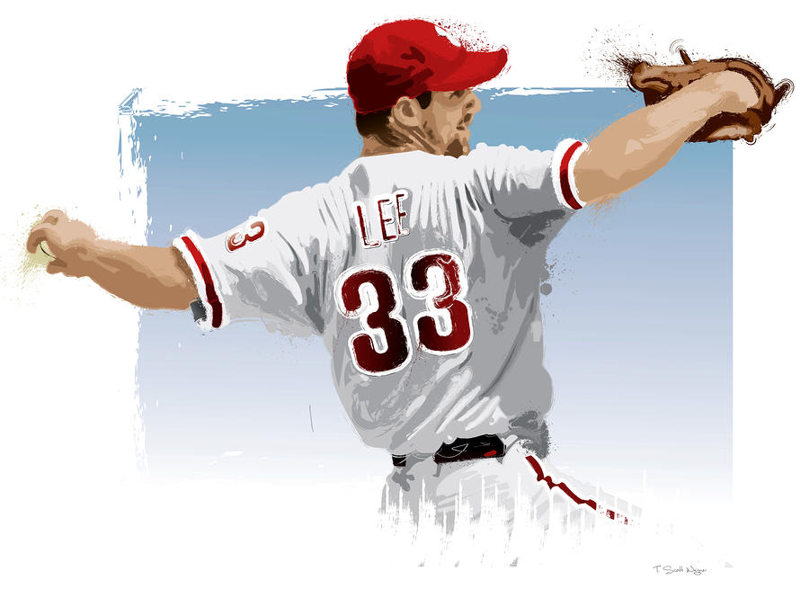 Cliff Lee Digital Art  - Cliff Lee Fine Art Print