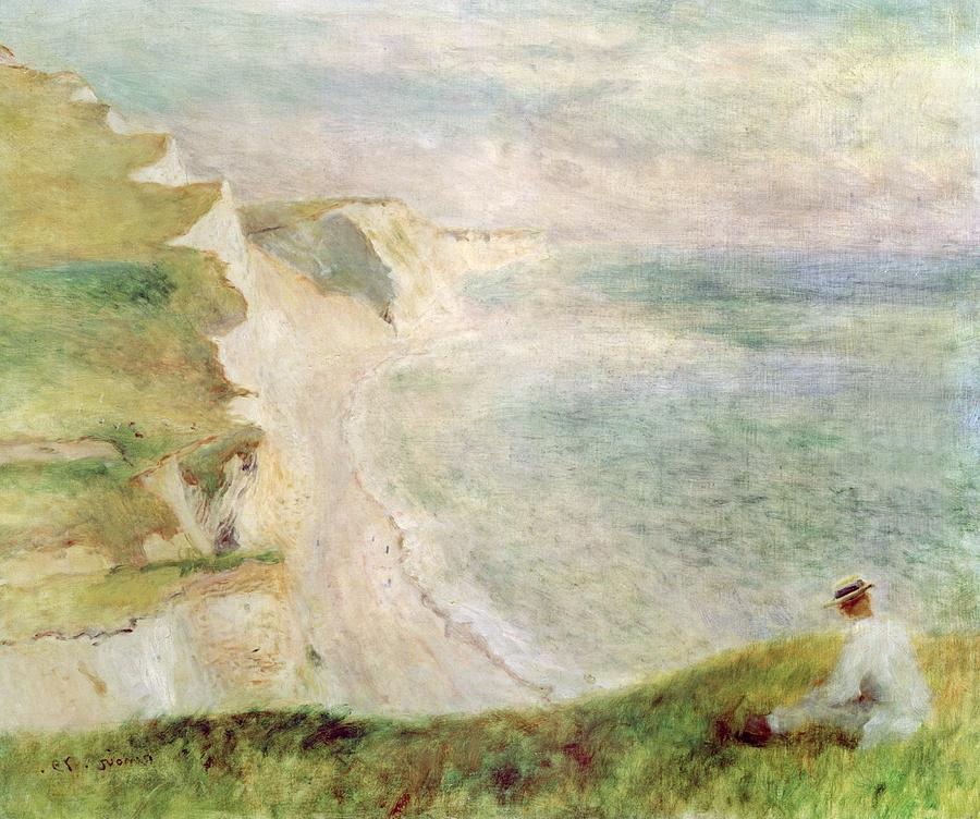 Cliffs At Pourville Painting  - Cliffs At Pourville Fine Art Print