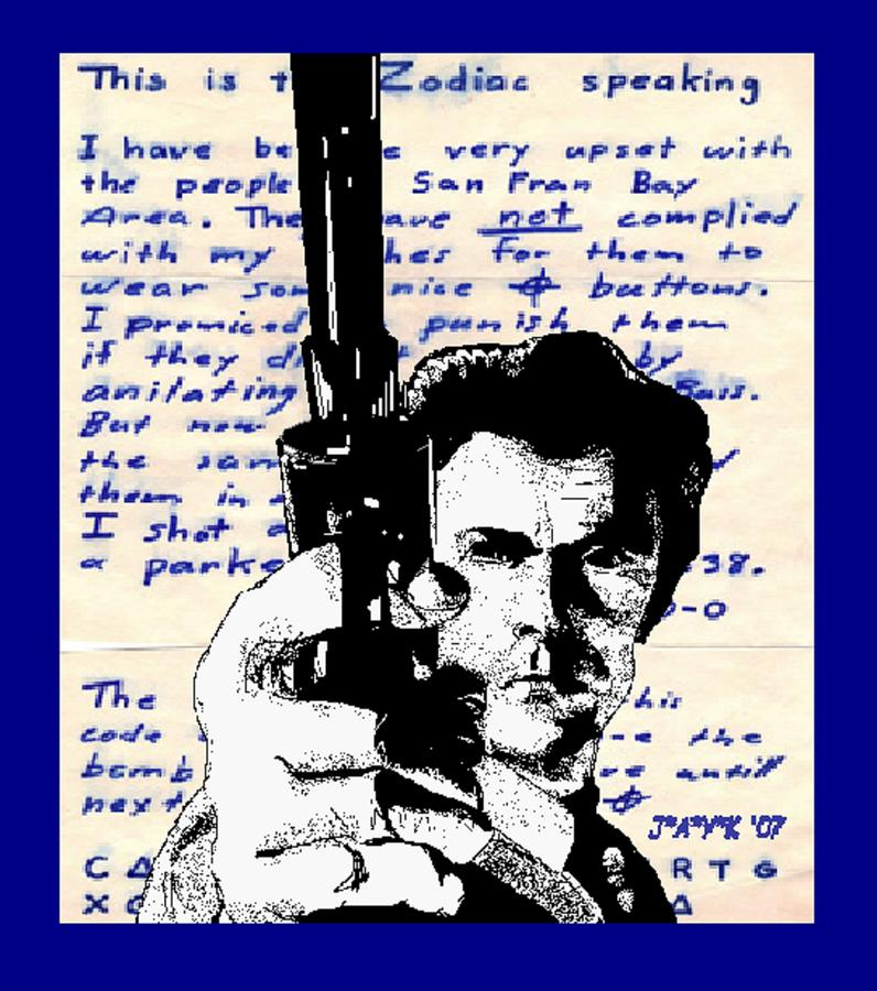 Clint Eastwood As Dirty Harry Drawing