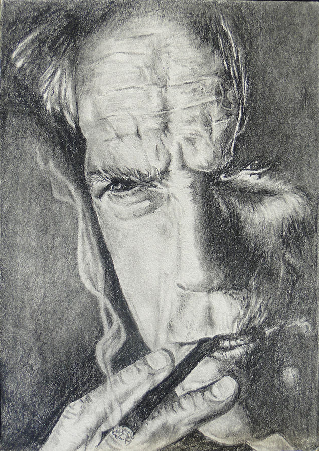 Clint Eastwood Drawing  - Clint Eastwood Fine Art Print