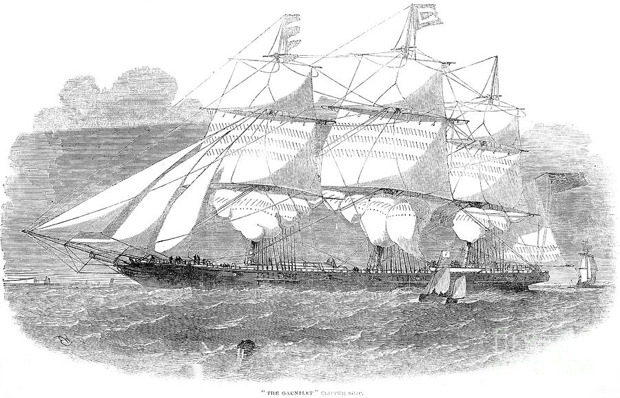 Clipper Ship, 1853 Photograph