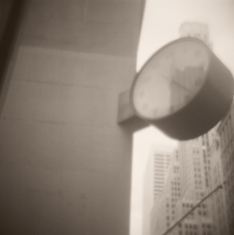 Clock 42nd Street Photograph  - Clock 42nd Street Fine Art Print