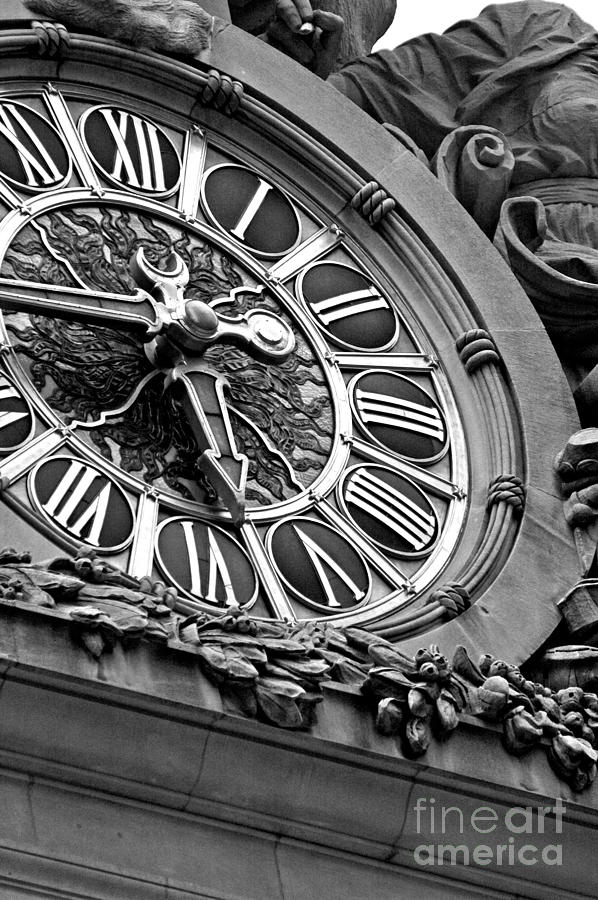 Clock Face Mixed Media  - Clock Face Fine Art Print