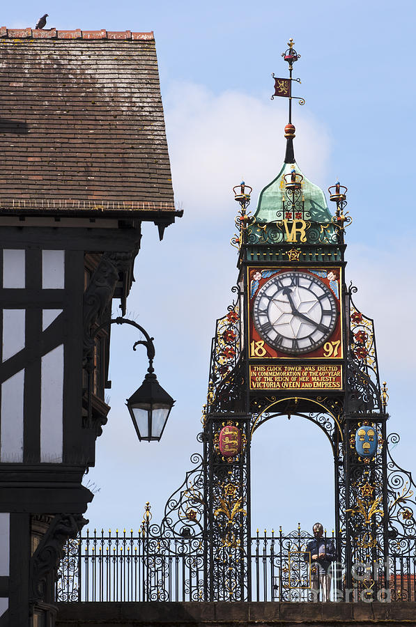 Clock In Chester Photograph