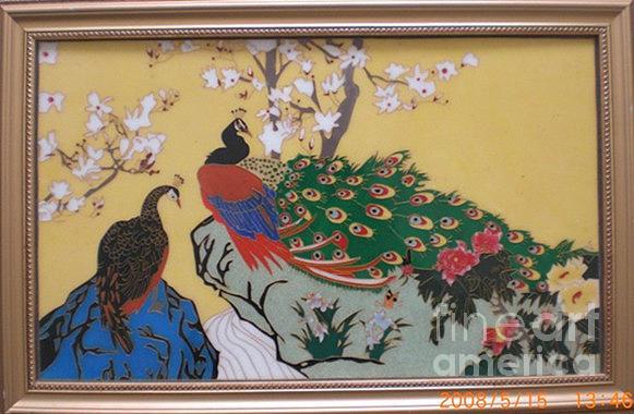 Cloisonne enamel craft painting ceramic art by yingchen for Folk art craft paint
